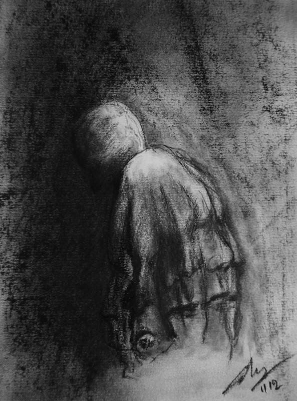 Charcoal on paper, 2012. © Kyriakos Papageorgiou